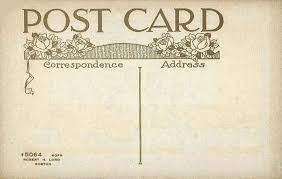 post card undivided