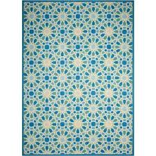Teal Outdoor Rug Outdoor Rugs Rugs The Home Depot