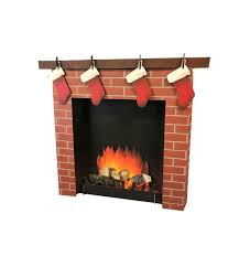 amazon com 3d fireplace advanced graphics life size cardboard