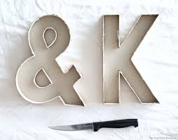 diy concrete letter u0026 ampersand katelyn chantel blog