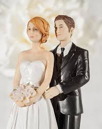 wedding cake toppers and groom pearl and groom wedding cake topper custom hair