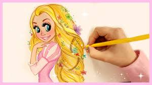 draw color disney princesses hair rapunzel