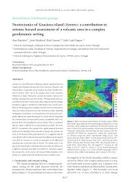 neotectonics of graciosa island azores a contribution to