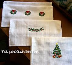 christmas towels embroidered christmas towels once upon a sewing machine