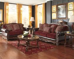 Burgundy Living Room by Weslynn Place Burgundy Traditional Classics Sofa U0026 Loveseat