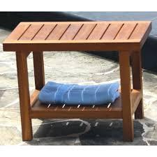 Teak Shower Seat Pollenex Solid Teak Spa Bench Corner Teak Spa Bench Teak Spa Bench