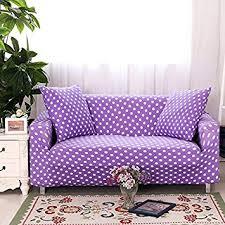 purple sofa slipcover amazon com yiwant sofa slipcover protector cover polka dot