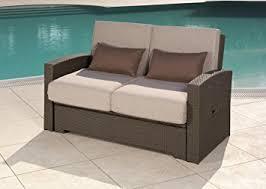 divanetti in vimini da esterno divano giardino trasformabile letto da esterno in rattan minas