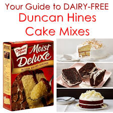 duncan hines cake mixes the dairy free options