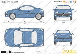 peugeot 206 cc the blueprints com vector drawing peugeot 206 cc