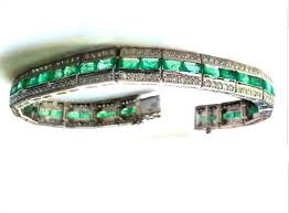 emerald bracelet white gold images 15 58ct diamond emerald bracelet in 14k white gold jpg