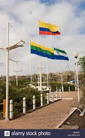 Santa Cruz Flag Porto Ayora Malecon Of Santa Cruz Island Galapagos Islands