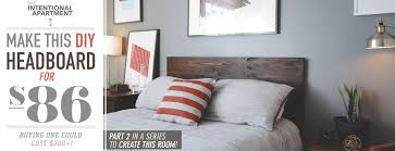 How To Make A Platform Bed With Headboard by Make This Diy Wood Headboard For Only 86 Primer