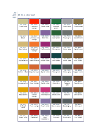 ral color chart bs 4800