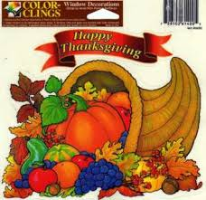 free two thanksgiving window clings other seasonal