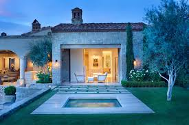 Italian Backyard Design by Northern Italian Style Villa Surrounded By An Inviting Desert