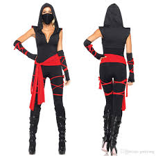 adults womens shadow ninja warrior fancy dress halloween