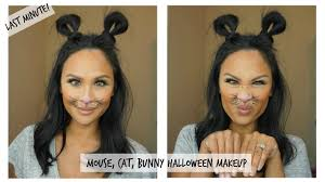 easy to do cute mouse cat or rabbit halloween makeup last