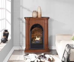 duluth forge dual fuel ventless fireplace with mantel 15 000 btu