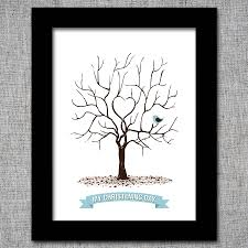 christening fingerprint tree print by intwine design