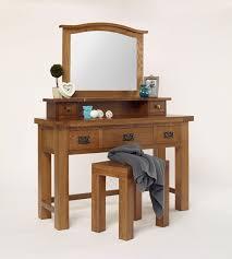 Rustic Vanity Table Furniture Bedroom Furniture White Wooden Mirror Vanity Table