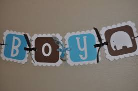 baby shower banners elephant baby shower banner it s a boy so sweet party shop
