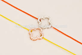 red string bracelet with charm images Silver heart charm silk cord bracelet adjustable red string jpg