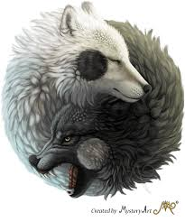 yin yang wolves by sunima on deviantart