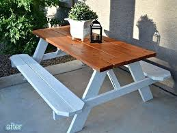 rustic outdoor picnic tables picnic table stain chic white picnic table with benches best ideas
