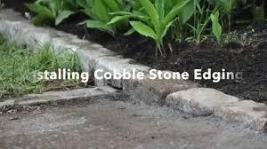 paver patio edging installing cobblestone edging youtube