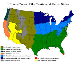 Usa Garden Zones - us climate map zone