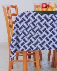 blue white cross hatch 70 pattern peva flannel backed