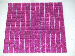 glitter pink glass mosaic tiles model number v05
