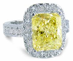cubic zirconia white gold engagement rings 5 5 carat emerald cut canary cubic zirconia pave halo engagement ring
