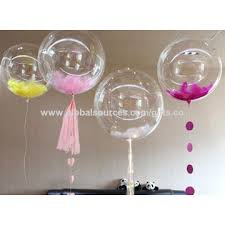 baby shower supplies china transparent balloon with colorful confetti party decoration