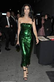 padma lakshmi glimmers in green sequins as celebrities support