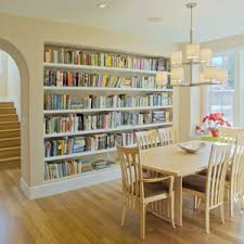 bookshelves in dining room homefurnishings com stunningly stylish bookshelves