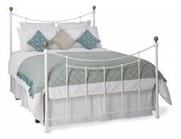 bedroom outstanding warwick white metal small double headboard