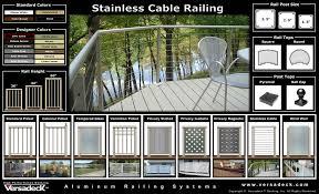 versadeck aluminum railing systems maintenance free deck railings