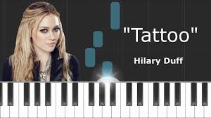 tattoo hilary duff chords acoustic hilary duff tattoo piano tutorial chords how to play cover