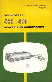 john deere vintage 483 485 mower and conditioner operator u0027s manual