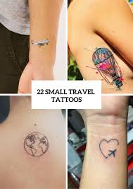 22 small travel inspired tattoos for women styleoholic