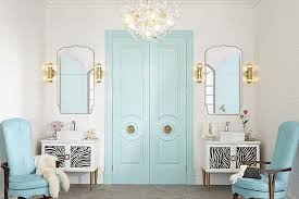 Blue Bathroom Fixtures Cool Blue Bathroom Contemporary Gold Chandelier