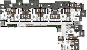 unit designs floor plans 2d colour site plan using our products for a development project