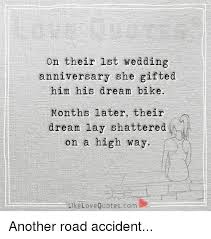 wedding quotes road on their lst wedding anniversary she gifted him his bike