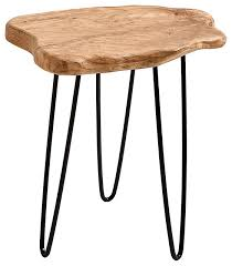 Wood Patio Side Table Cedar Stump End Table Rustic Side Tables And End Tables By
