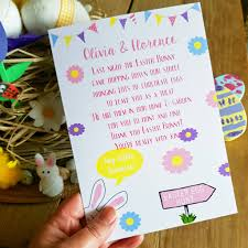 easter occasion speech easter bunny egg hunt poem card a5 by giddy kipper