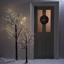 6ft snowy effect warm white twig tree pre lit 120 led lights