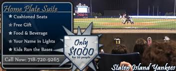 yankee stadium home run lights home plate suite staten island yankees group outings