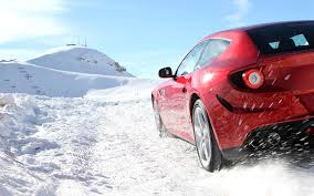 nissan leaf in snow ferrari to launch snow driving for ff owners